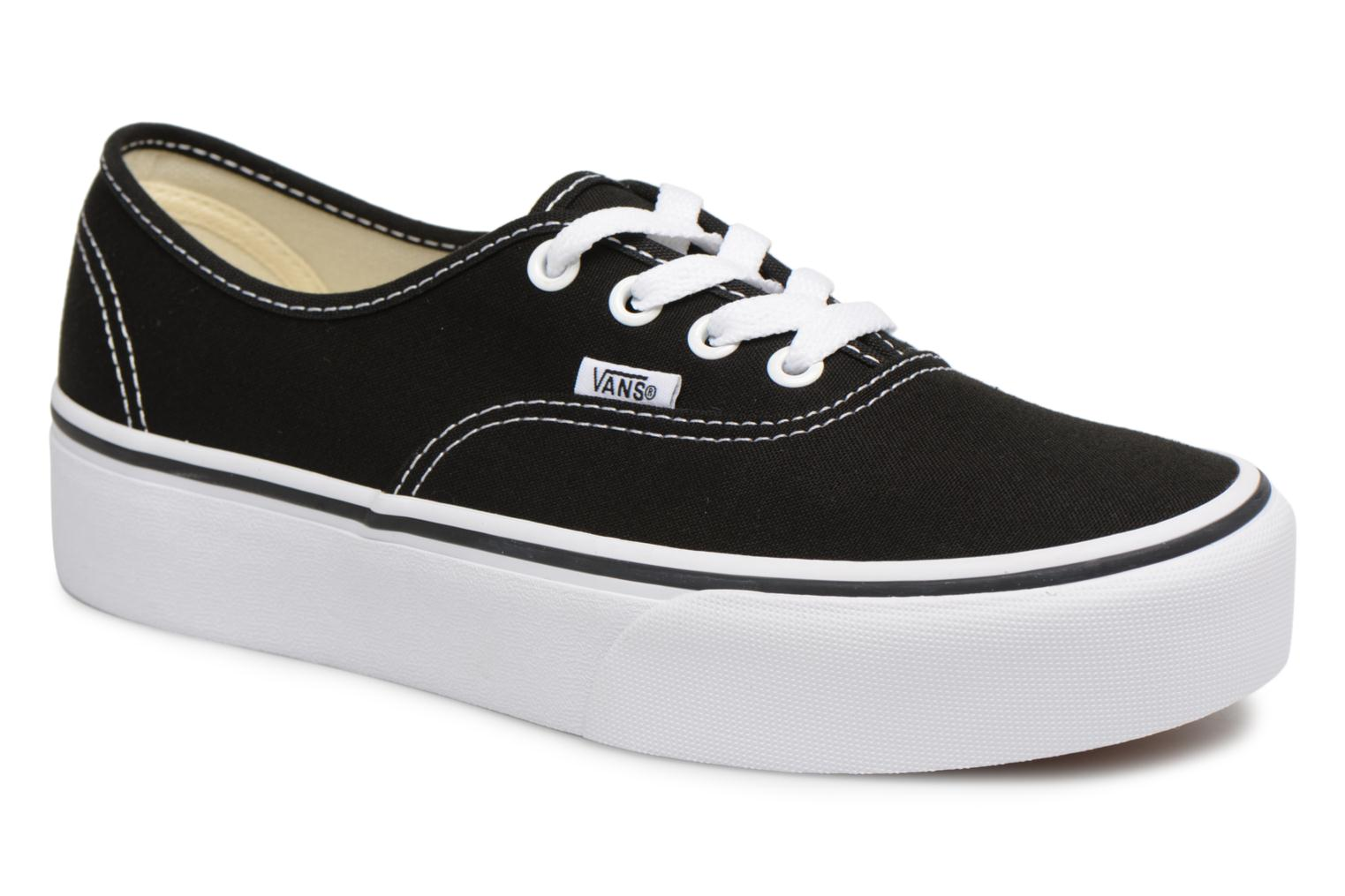 Baskets Vans Authentic Platform 2.0 Noir vue détail/paire