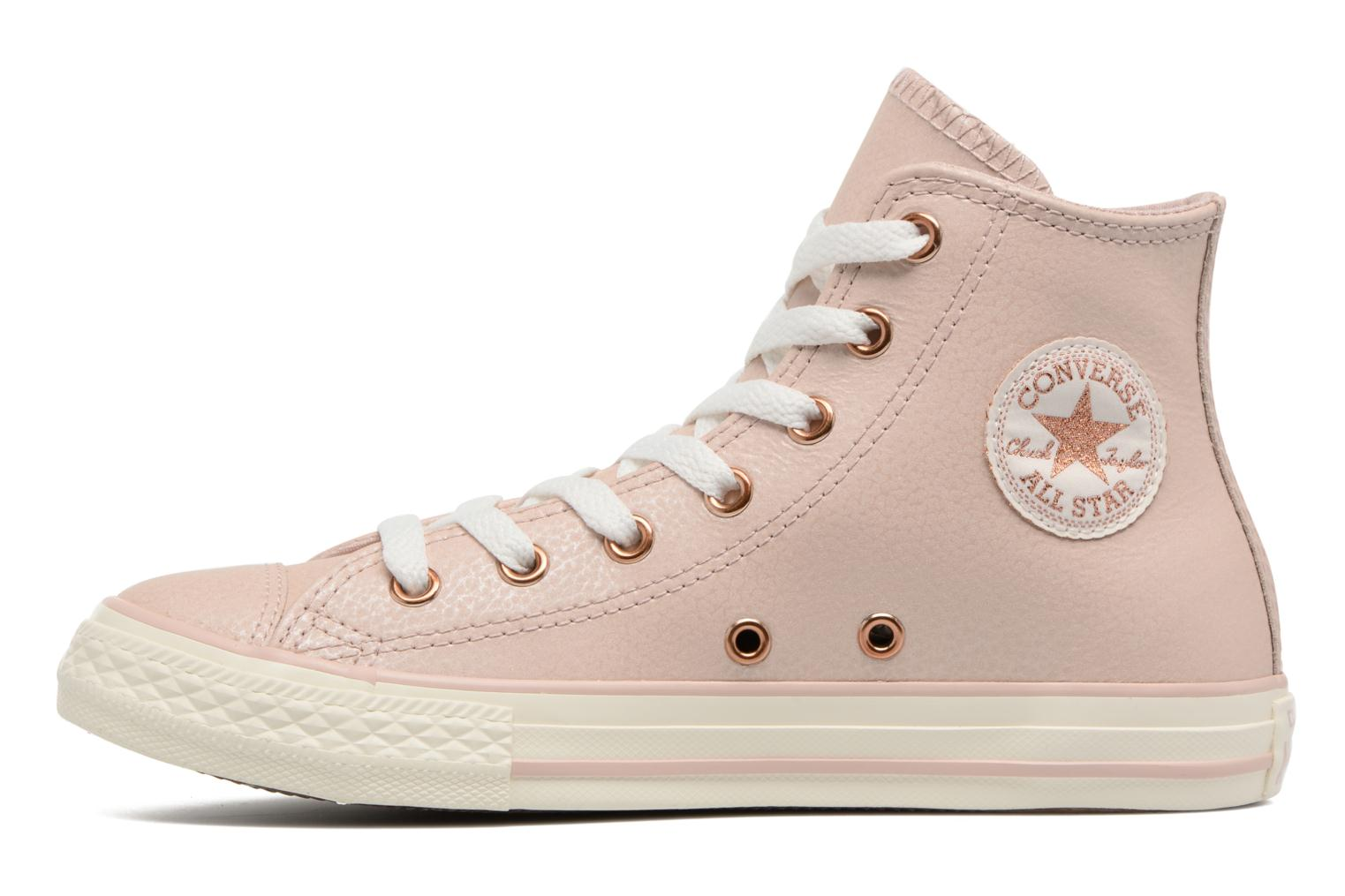 Baskets Converse Chuck Taylor All Star Hi Fashion Leather Beige vue face