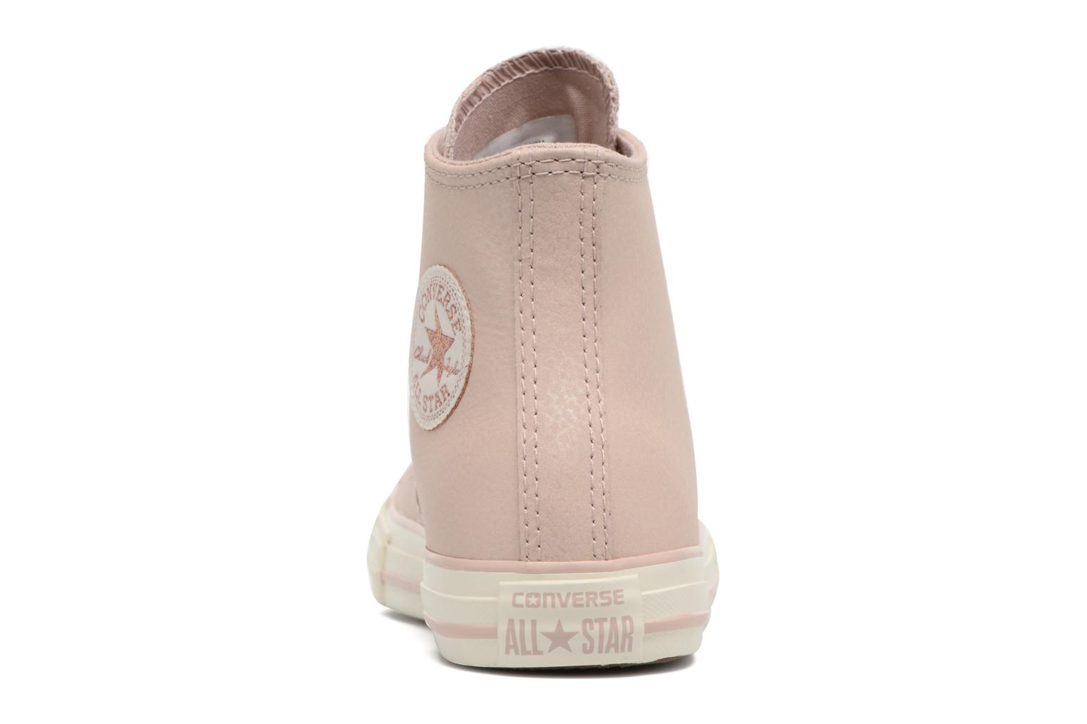 Baskets Converse Chuck Taylor All Star Hi Fashion Leather Beige vue droite