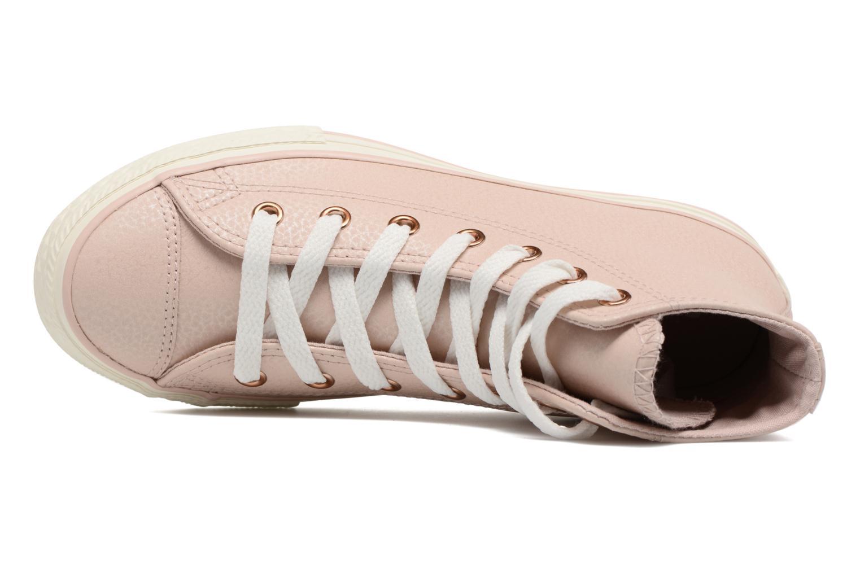 Baskets Converse Chuck Taylor All Star Hi Fashion Leather Beige vue gauche