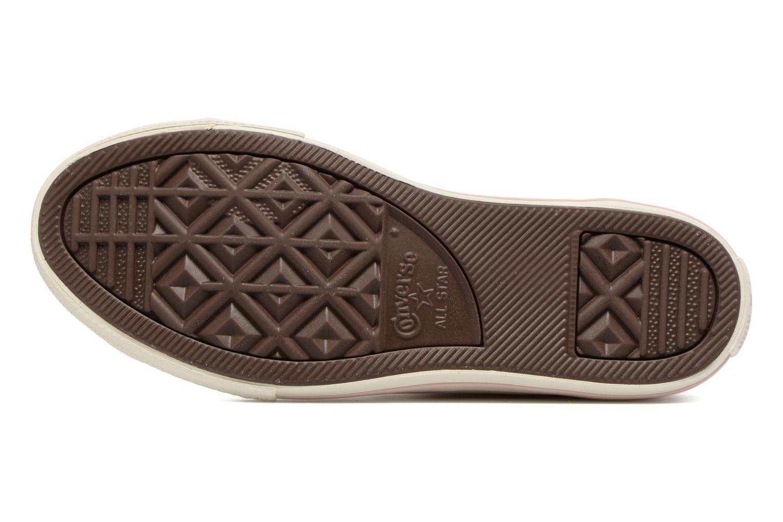 Baskets Converse Chuck Taylor All Star Hi Fashion Leather Beige vue haut