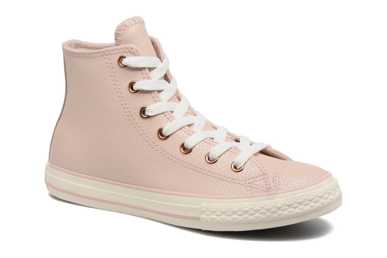Baskets Converse Chuck Taylor All Star Hi Fashion Leather Beige vue détail/paire