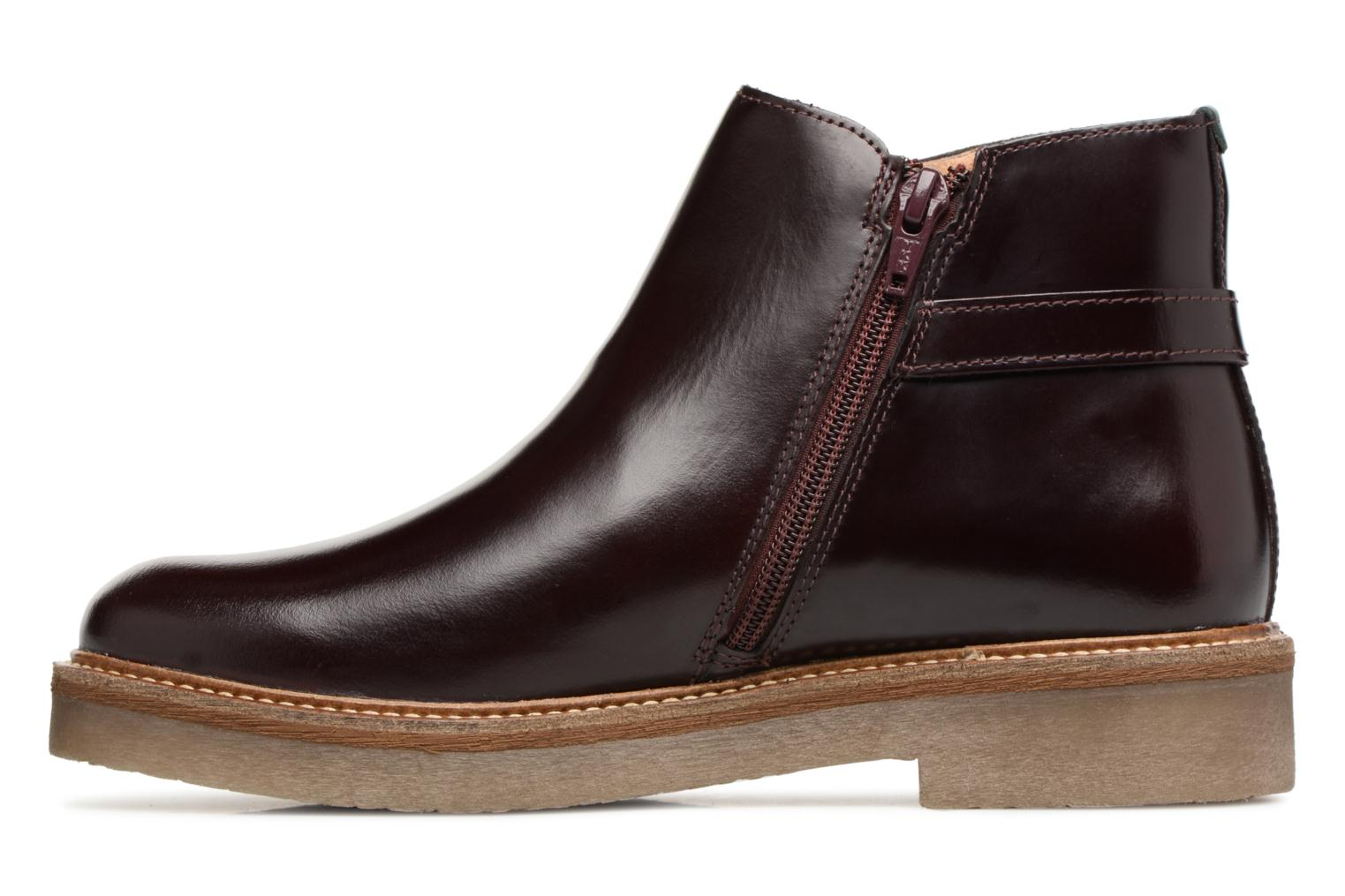 Bottines et boots Kickers OXIMORE Bordeaux vue face