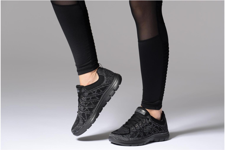 Chaussures de sport Skechers Flex Appeal 2,0 New Gem Noir vue bas / vue portée sac