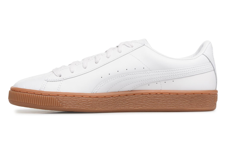 Sneaker Puma BASKET CLASSIC OR weiß ansicht von vorne