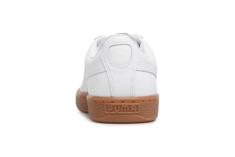 Sneaker Puma BASKET CLASSIC OR weiß ansicht von rechts