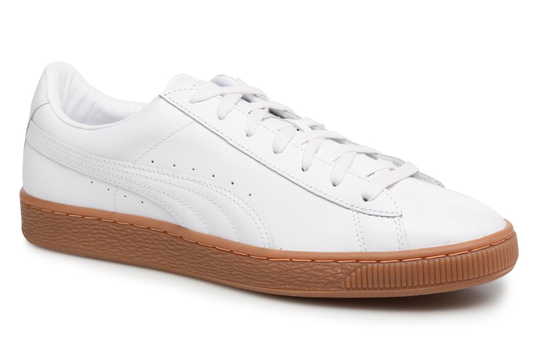 Baskets Puma BASKET CLASSIC OR Blanc vue détail/paire
