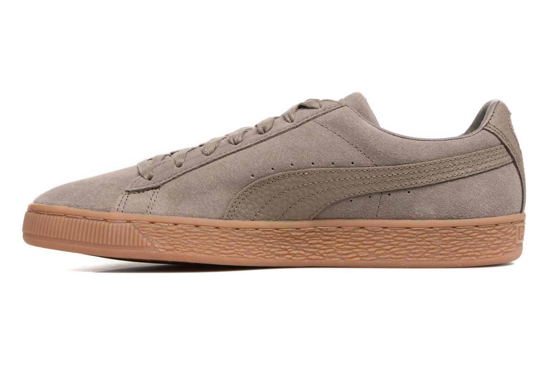 Sneaker Puma SUEDE C ORGANIC WARM braun ansicht von vorne