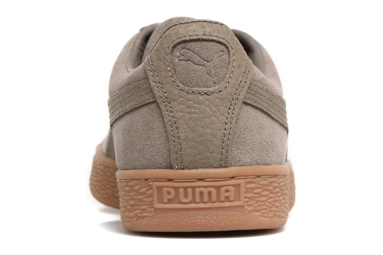 Baskets Puma SUEDE C ORGANIC WARM Marron vue droite