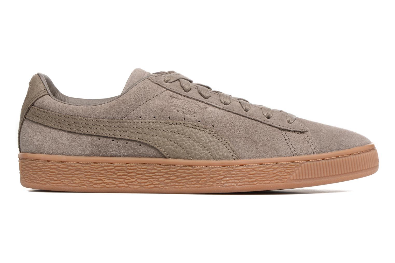 Sneaker Puma SUEDE C ORGANIC WARM braun ansicht von hinten