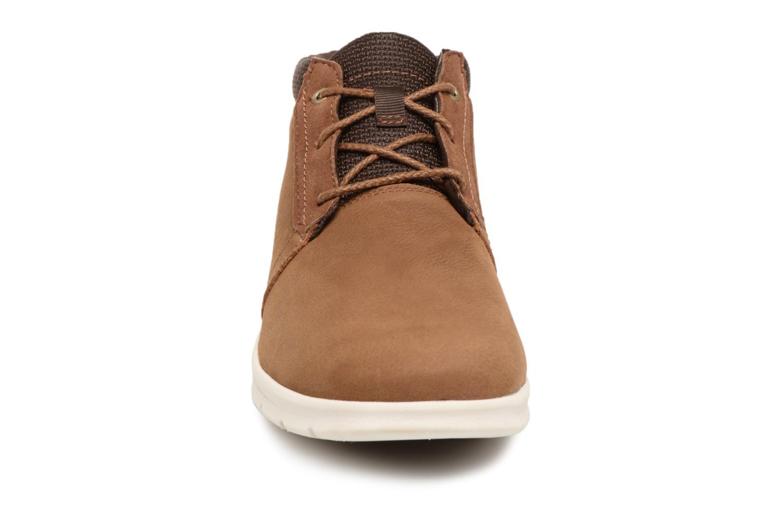Bottines et boots Timberland Graydon Leather Mid WR Marron vue portées chaussures