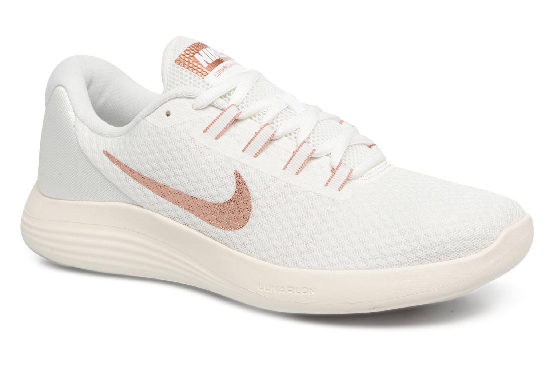 Chaussures de sport Nike Wmns Nike LunarConverge Blanc vue détail/paire