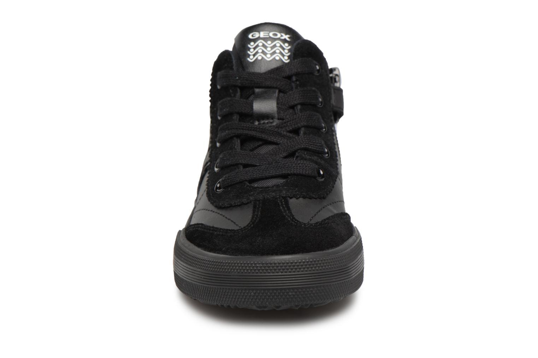 Sneaker Geox J ALONISSO B schwarz schuhe getragen