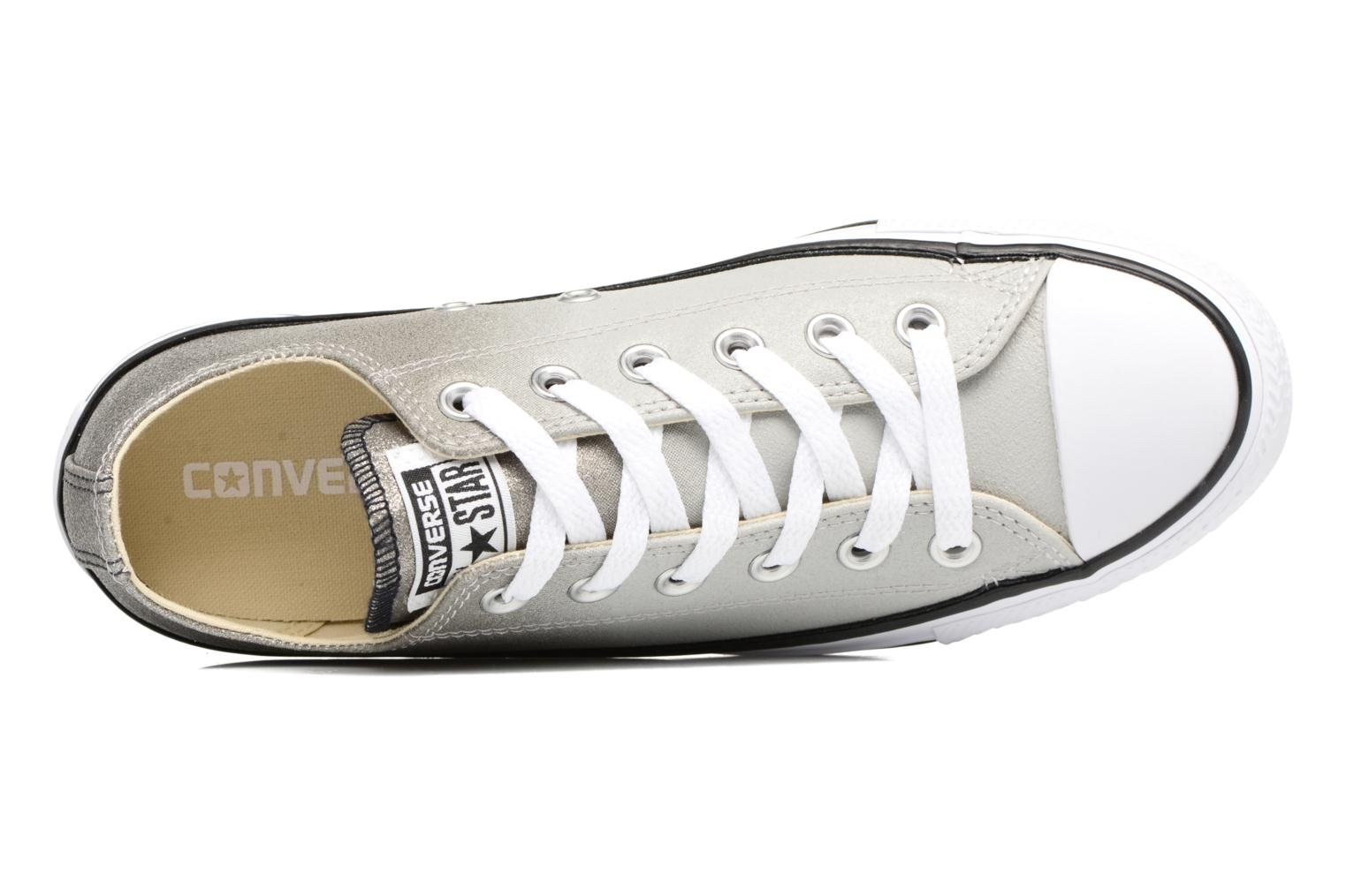 Baskets Converse Chuck Taylor All Star Ombre Metallic Ox W Gris vue gauche