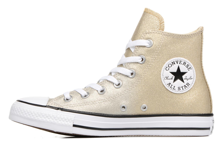 Baskets Converse Chuck Taylor All Star Ombre Metallic Hi Or et bronze vue face
