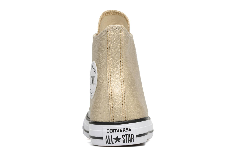 Baskets Converse Chuck Taylor All Star Ombre Metallic Hi Or et bronze vue droite