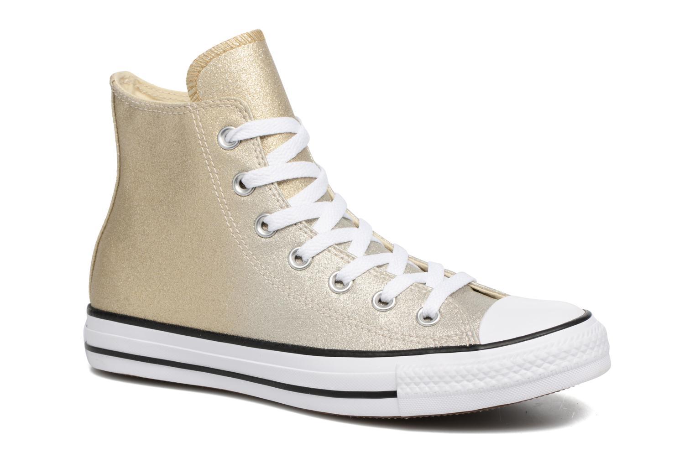 Baskets Converse Chuck Taylor All Star Ombre Metallic Hi Or et bronze vue détail/paire