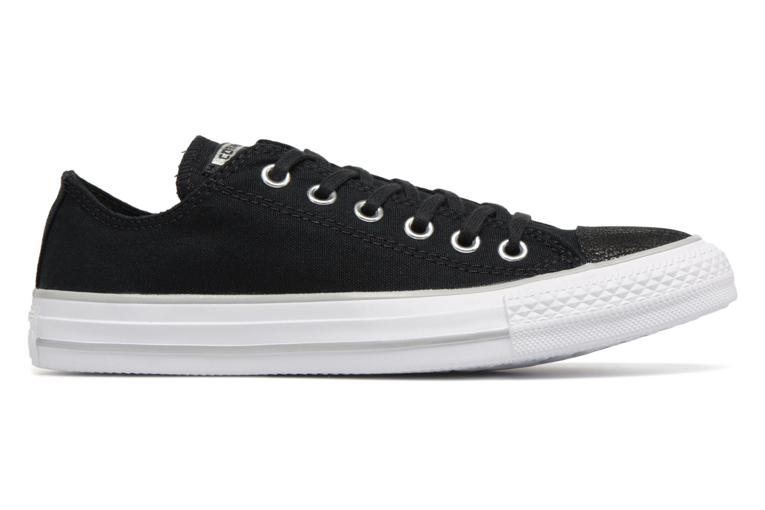 c5317d0dd82d5a ... white Taylor Chuck Metallic Black Toecap Star Ox All Tipped Converse  silver 7Awq6 ...