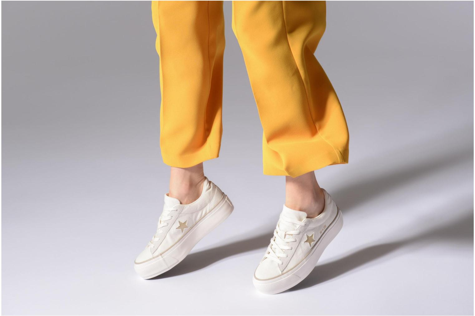 Sneakers Converse One Star Platform Ox Bianco immagine dal basso