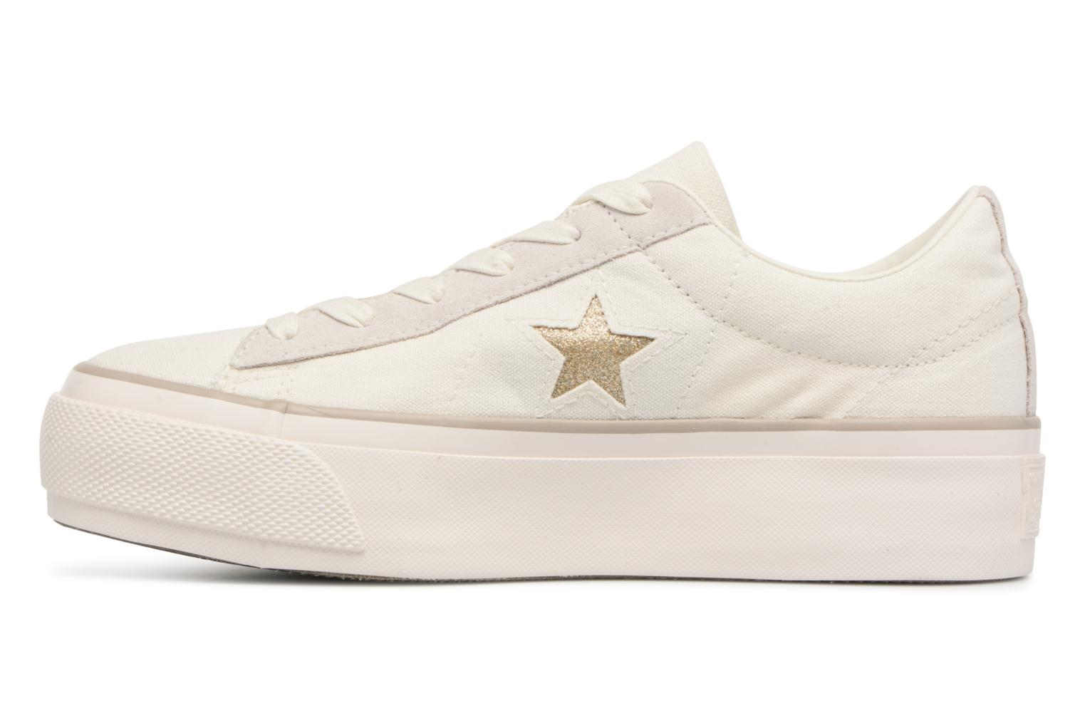Sneakers Converse One Star Platform Ox Bianco immagine frontale