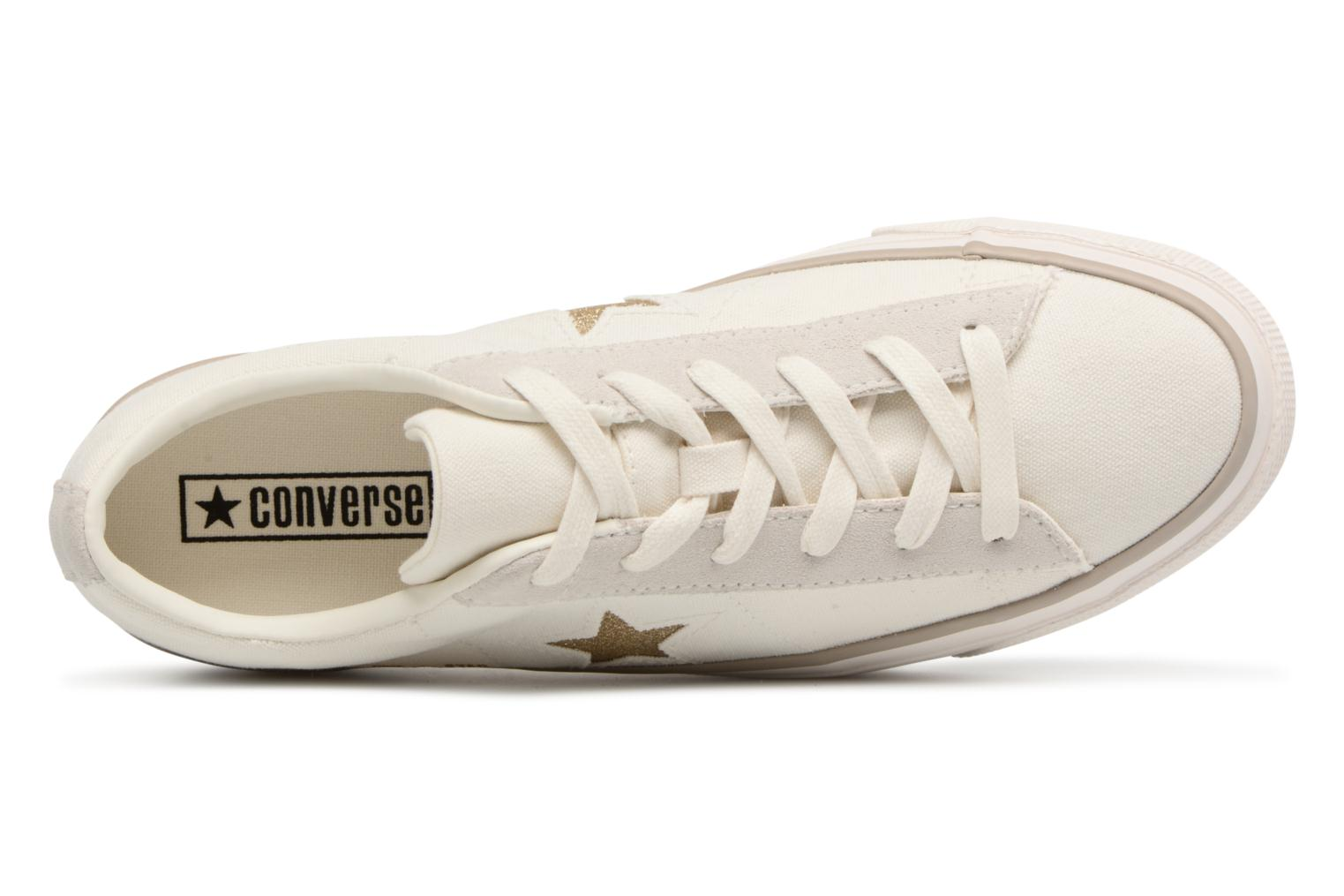 Sneakers Converse One Star Platform Ox Bianco immagine sinistra