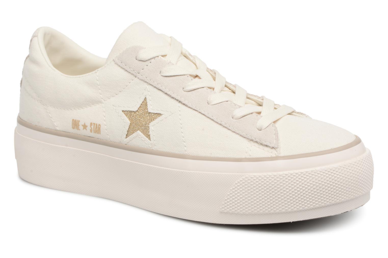Zapatos de hombres y mujeres de moda casual Converse One Star Platform Ox (Blanco) - Deportivas en Más cómodo