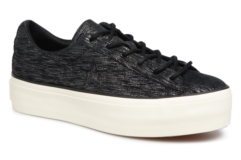 Zapatos cómodos y versátiles Converse One Star Platform Ox (Negro) - Deportivas en Más cómodo