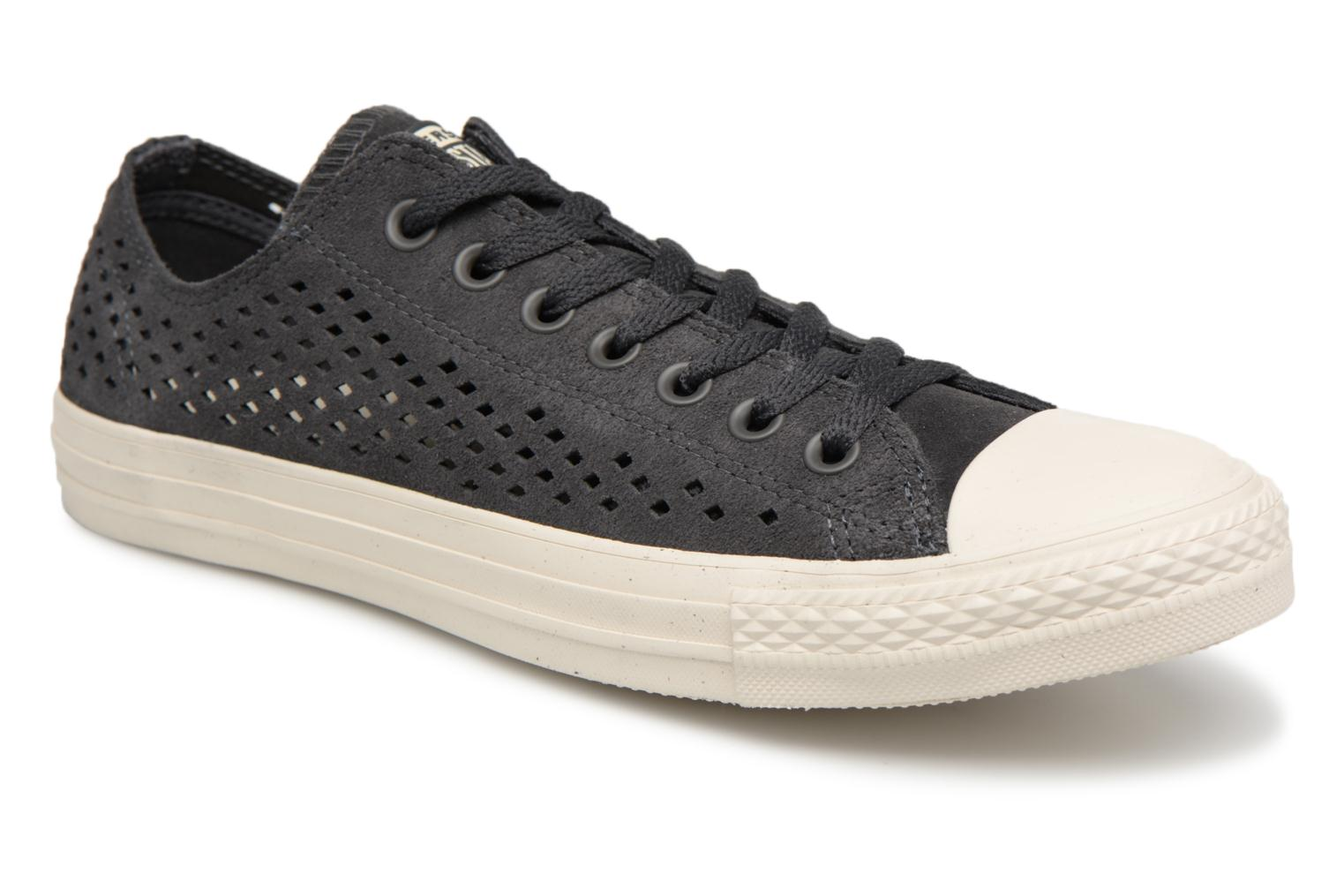 Marques Chaussure homme Converse homme Chuck Taylor All Star Nubuck Ox M Black/Black/Pale Putty