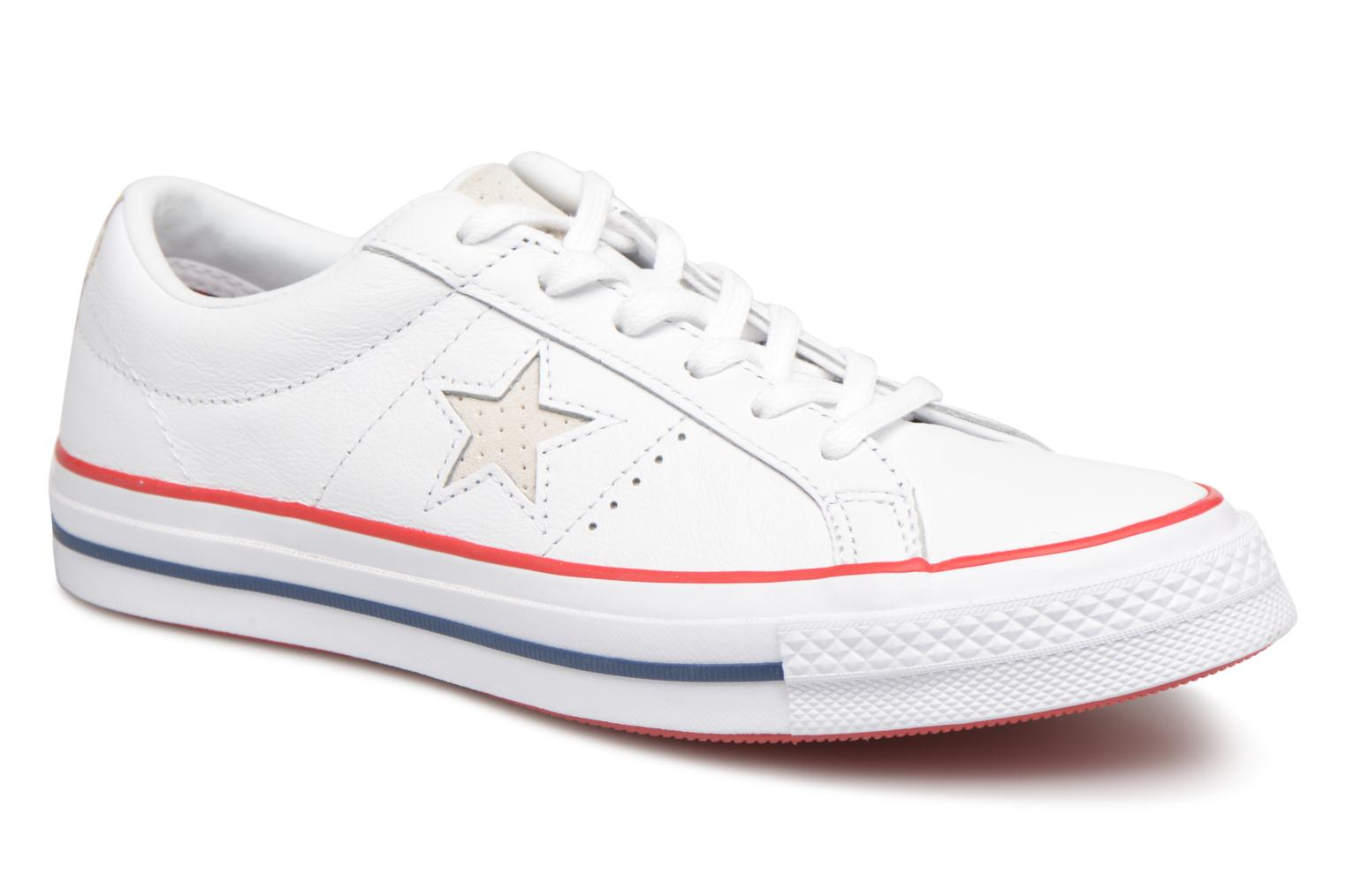 Baskets Converse One Star New Heritage Ox Blanc vue détail/paire