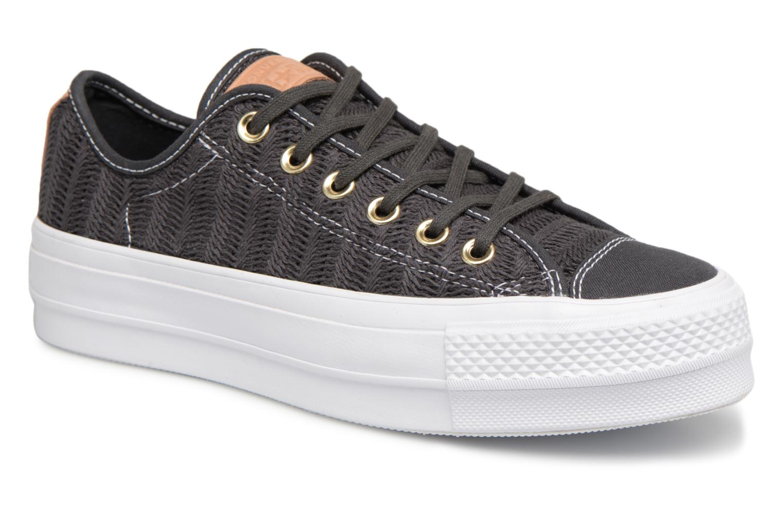 Zapatos promocionales Converse Chuck Taylor All Star Lift Herringbone Mesh Ox (Negro) - Deportivas   Los zapatos más populares para hombres y mujeres