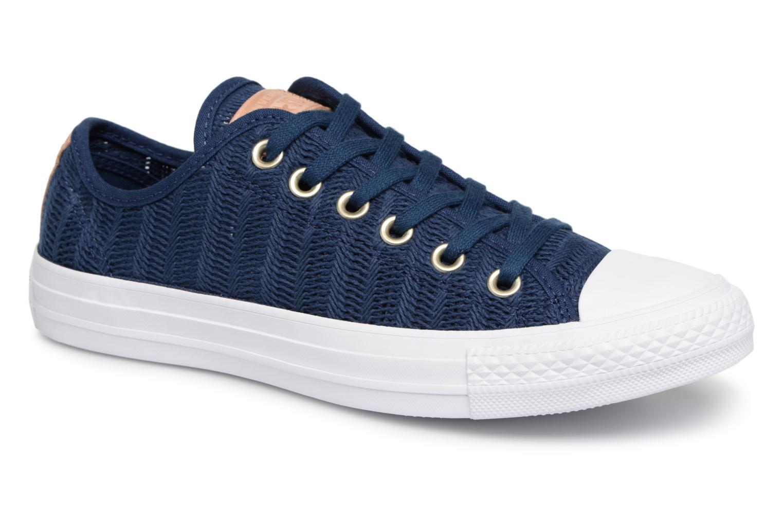 Zapatos promocionales Converse Chuck Taylor All Star Lift Herringbone Mesh Ox (Azul) - Deportivas   Gran descuento