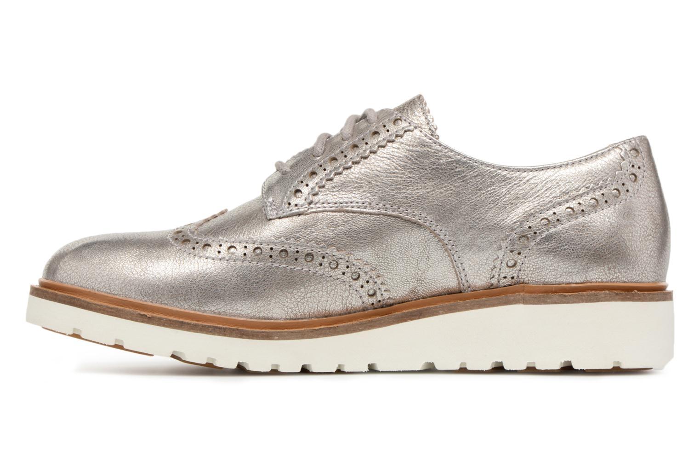 Chaussures à lacets Timberland Ellis Street Oxford Argent vue face