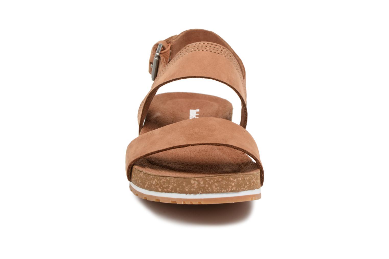 Sandales et nu-pieds Timberland Malibu Waves 2 Bands Sand Marron vue portées chaussures