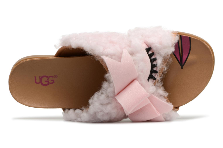 Sandales et nu-pieds UGG Stacee Rose vue gauche