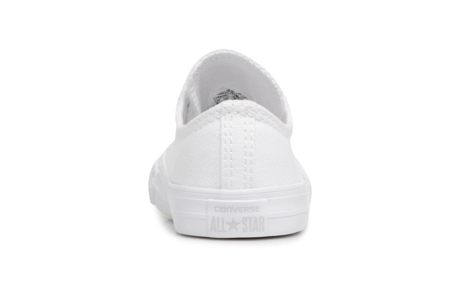 Baskets Converse CT AS OX WHITE MONOCHROME Blanc vue droite