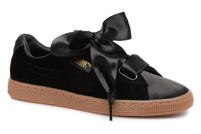 Sneakers Puma Suede Heart VS Wn's Sort detaljeret billede af skoene