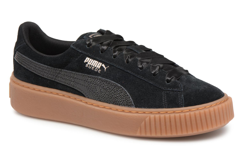 Zapatos promocionales Puma Suede Platform Bubble Wn's (Negro) - Deportivas   Cómodo y bien parecido
