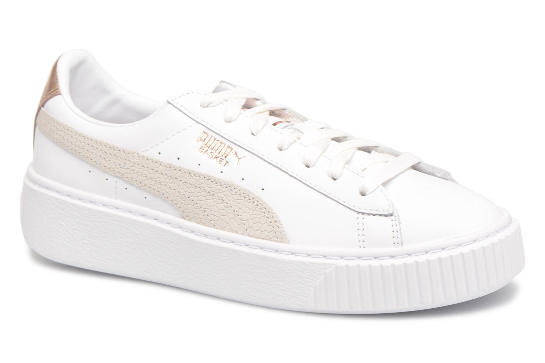 b3352b2db33 Zapatos promocionales Puma Basket Platform Euphoria RG (Blanco) -  Deportivas Zapatos casuales salvajes
