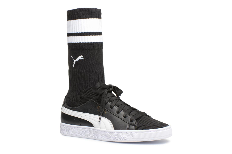 Marques Chaussure femme Puma femme Basket Sock evoKnit Wn's Puma Black-Puma White-Puma Team Gold