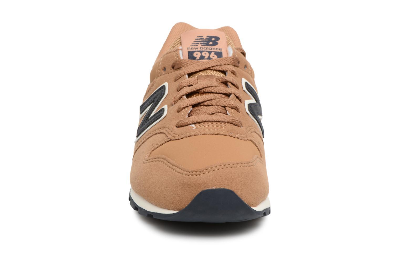 Sneaker New Balance KJ996 M beige schuhe getragen