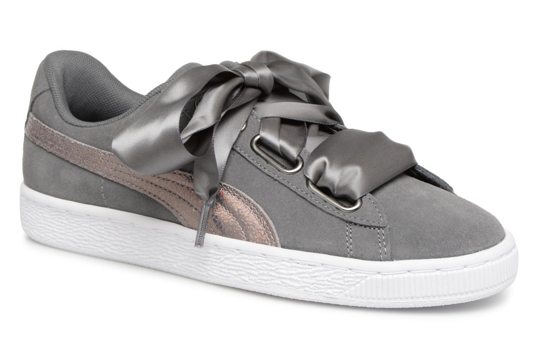 Zapatos promocionales Puma Basket Heart Hyper Wn's (Gris) - Deportivas   Cómodo y bien parecido