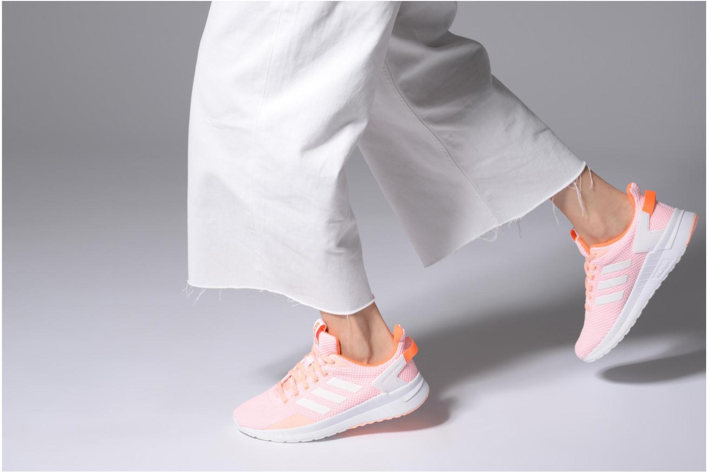 Chaussures de sport Adidas Performance Questar Ride W Rose vue bas / vue portée sac