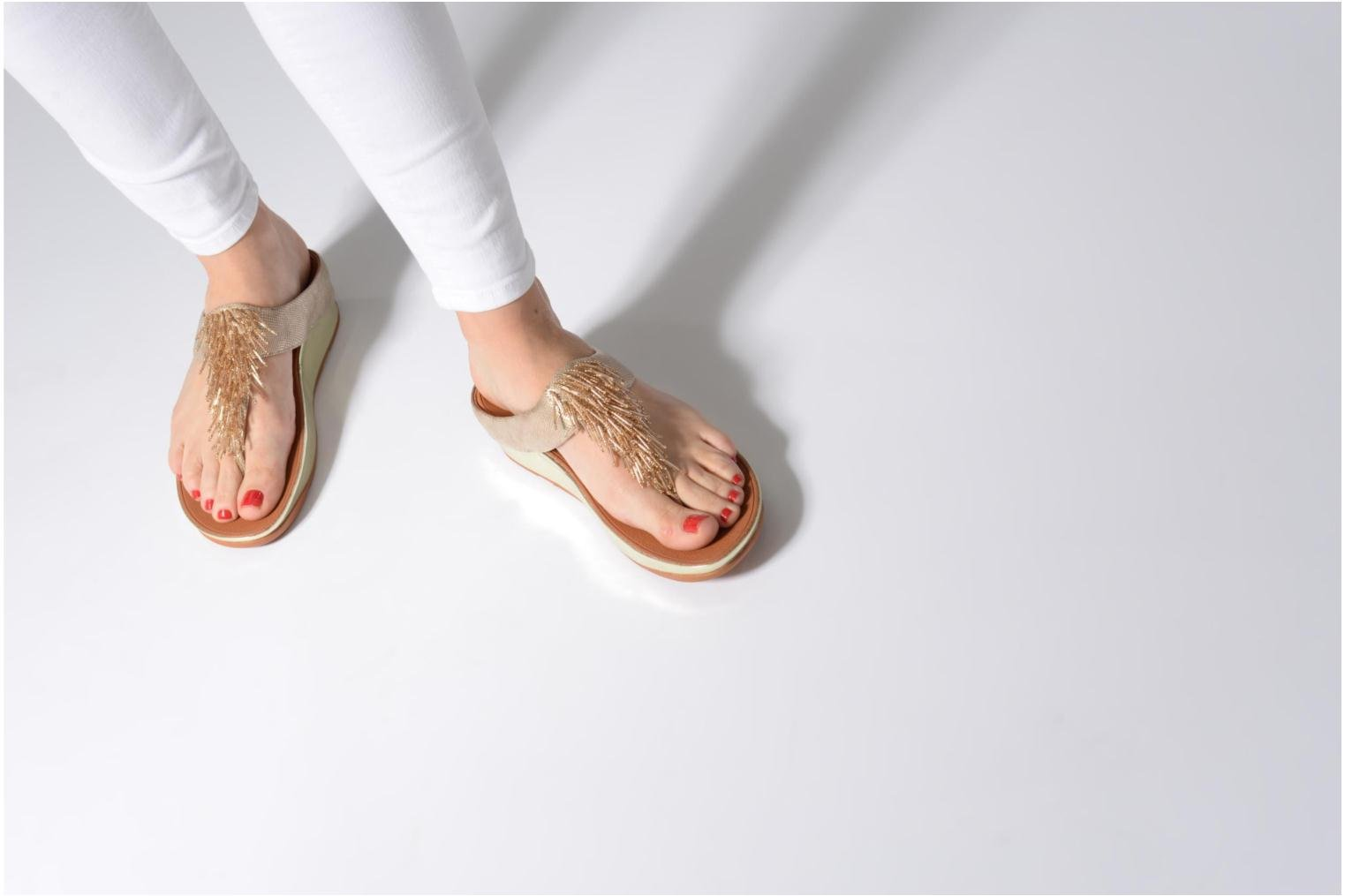Zapatos promocionales FitFlop Cha Cha Shimmer (Oro y bronce