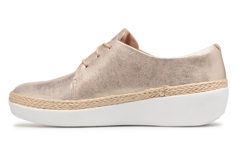 Grandes descuentos últimos zapatos FitFlop Superderby Leather (Plateado) - Zapatos con cordones Descuento