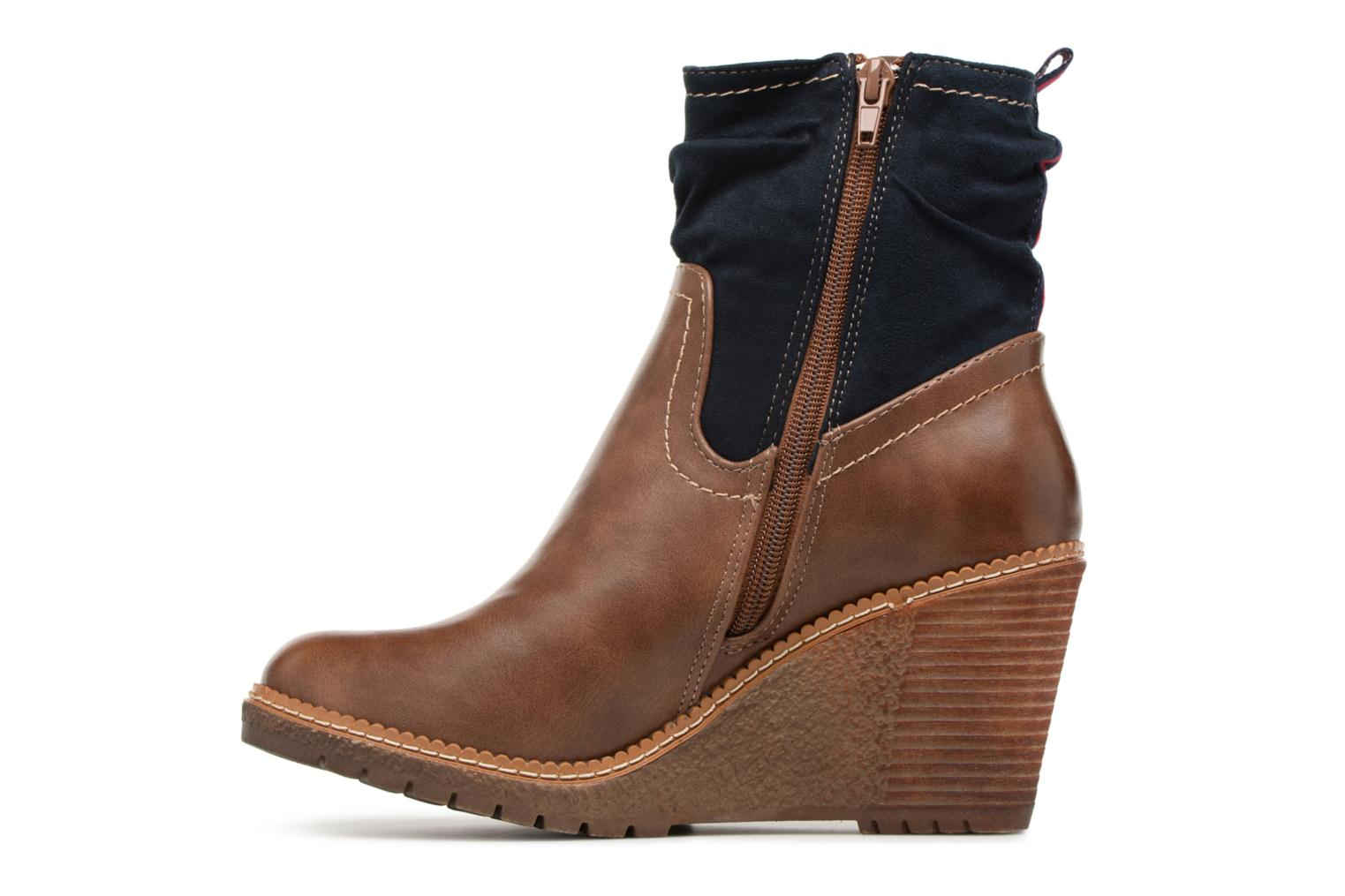 Ankle boots Refresh 63995 Brown front view
