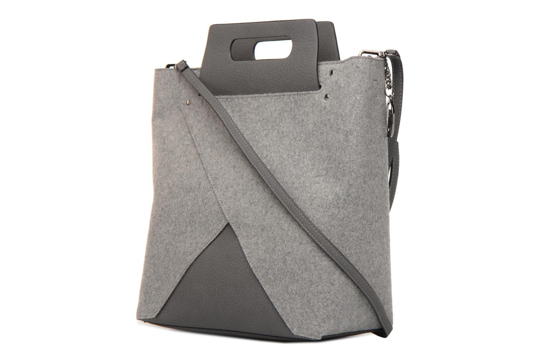 Handtaschen Steve Madden Bbelie grau ansicht von rechts