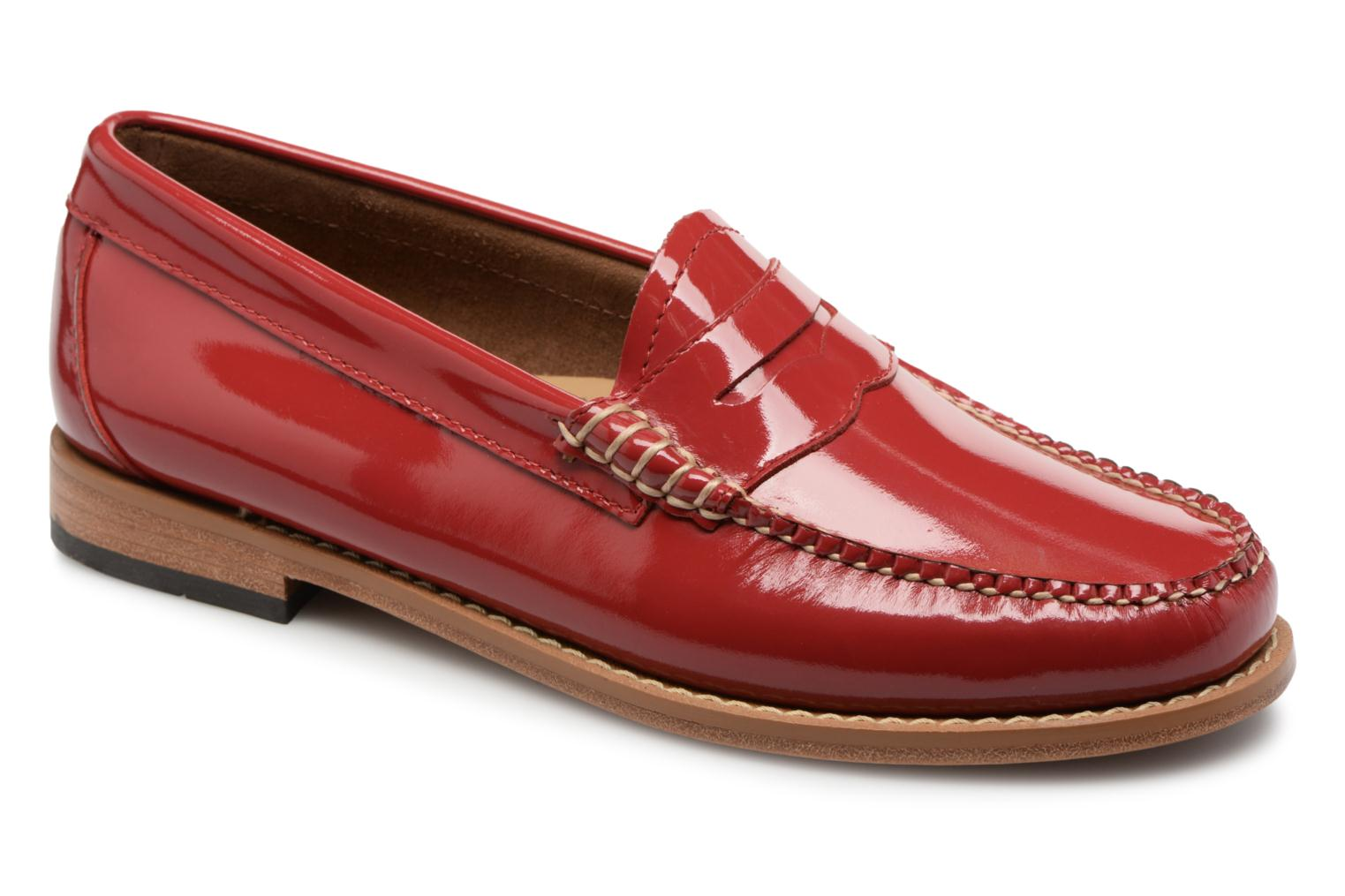 Marques Chaussure luxe femme G.H. Bass femme WEEJUN Penny wheel 1TR Tango Red Patent Leather