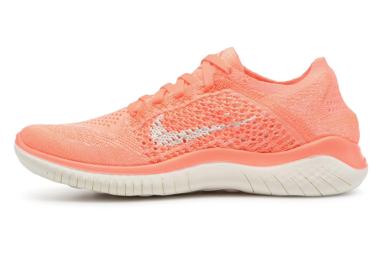 Chaussures de sport Nike Wmns Nike Free Rn Flyknit 2018 Orange vue face