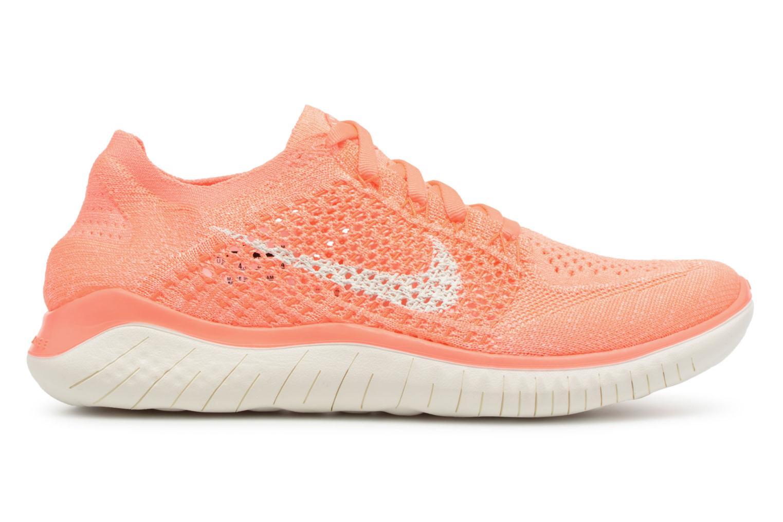 Chaussures de sport Nike Wmns Nike Free Rn Flyknit 2018 Orange vue derrière