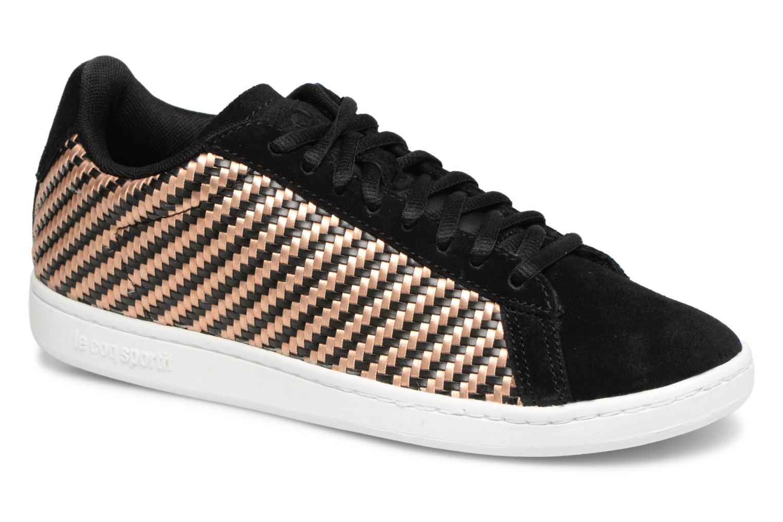 Grandes descuentos últimos zapatos Le Coq Sportif Courtset W Woven (Negro) - Deportivas Descuento